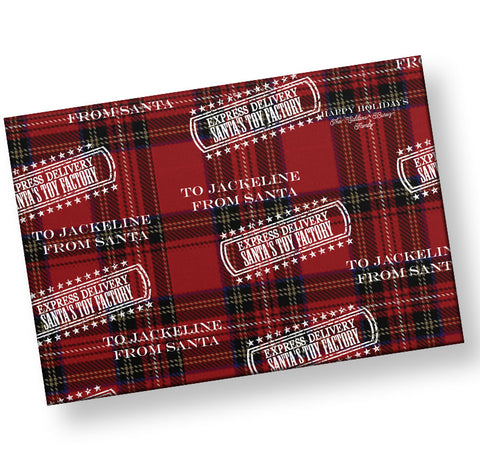 santa personalized express delivery gift wrap