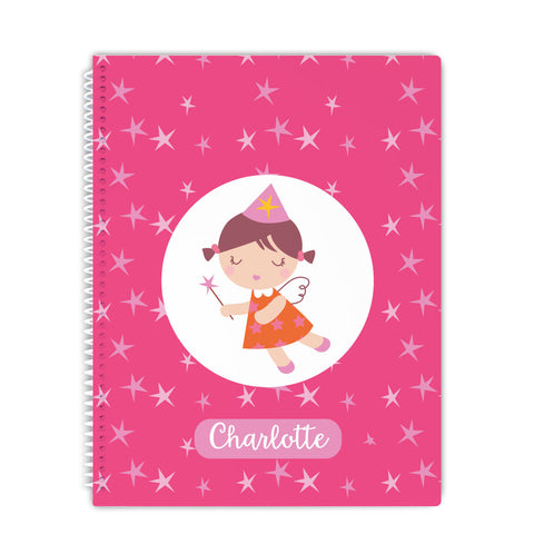 Personalized Fairy notebook for girls