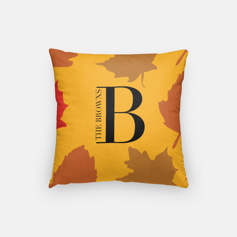 personalized  fall leaves pillow cover