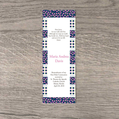 Flowers and Gingham Bookmarks (Set of 25)