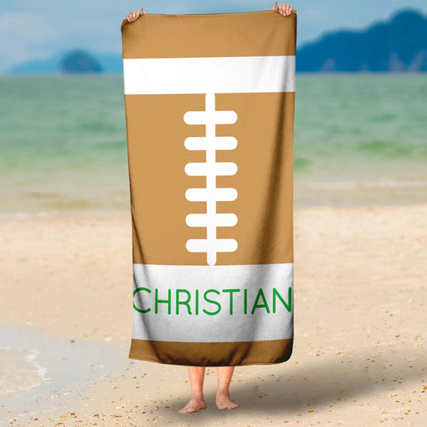 Football Microfiber Towel