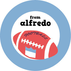 Football Gift Label