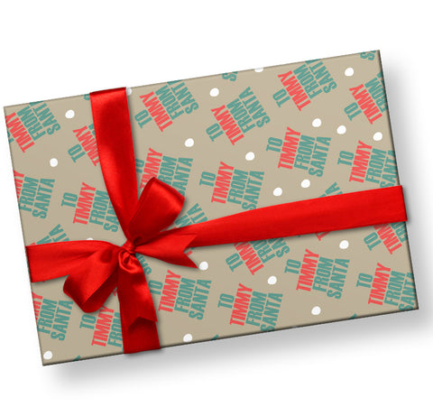 From Santa Gift Wrap Personalized