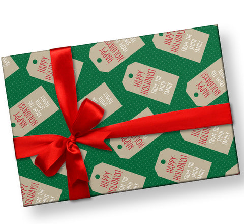 Personalized Christmas Holiday Gift Wrap