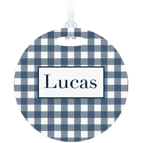 Gingham Bag Tag