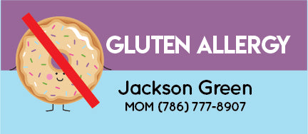Gluten Allergy Name Tags