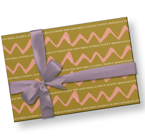 Gold and Pink Wrapping Paper