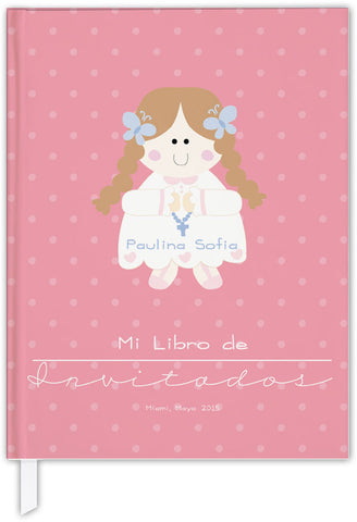 FIRST COMMUNION PERSONALIZED GUEST BOOK