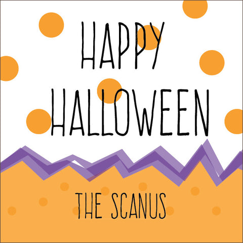 Polka Dot and Chevron Halloween Label