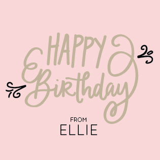 Pink Birthday Gift Label