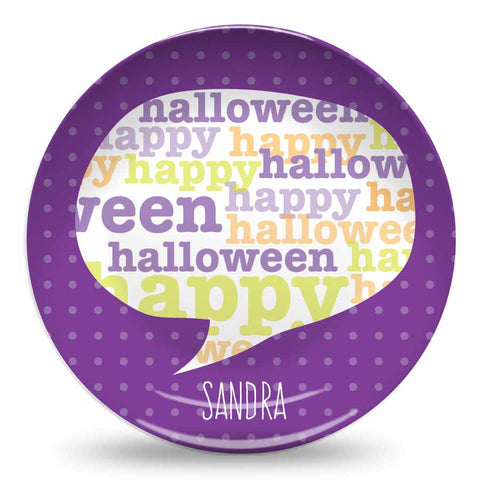 "Purple Halloween 10"" Plate"