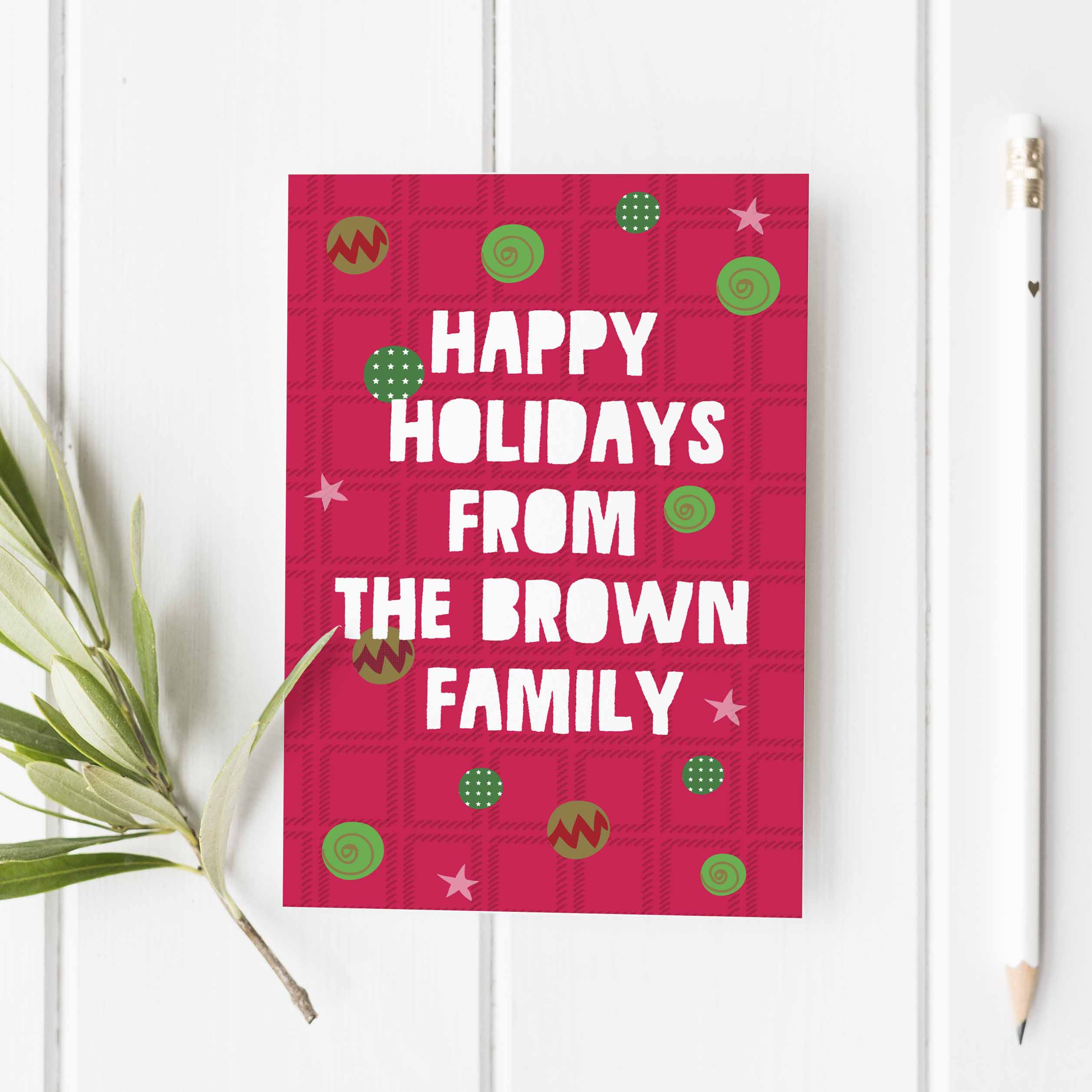 Happy Holidays Greeting Card Set Of 10 Label Circus