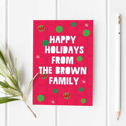 Happy Holiday Personalized Greeting Cards