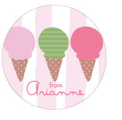 Ice Cream Trio Gift Label