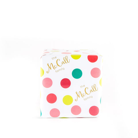 Happy Dots Wrapping Paper