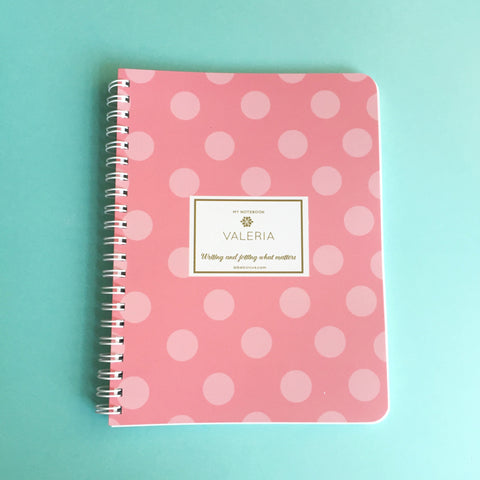 Polka Dots Mini Notebook