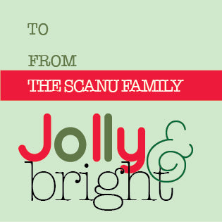 Jolly & Bright Holiday Gift Label