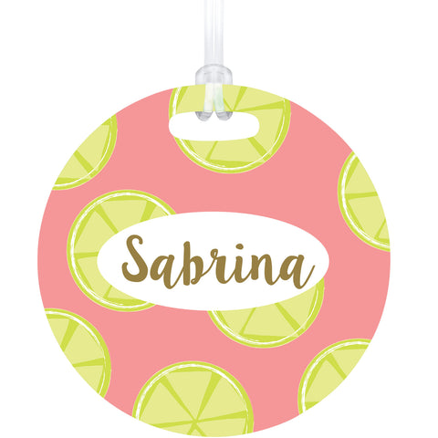 Pink Lemonade Bag Tag