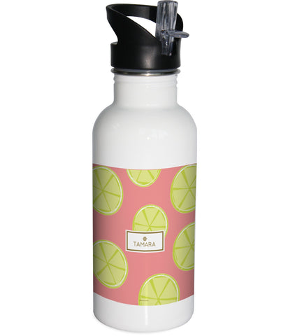 Pink Lemons Water Bottle