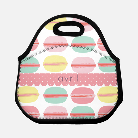 macarons lunch tote for back to school