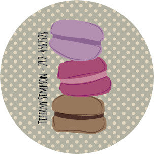 Macarons Label