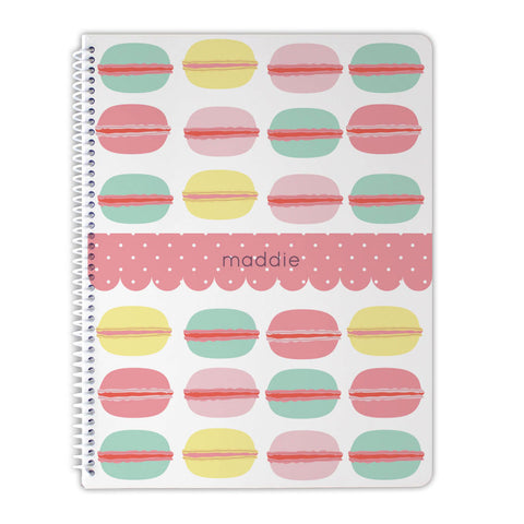 personalized macaron notebook for girls