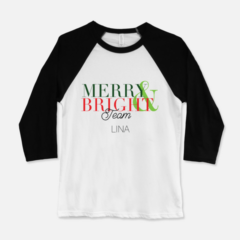 Woman's Merry and Bright Team T-shirt