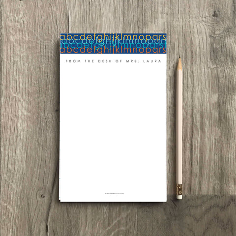 Modern ABC Teacher Notepad