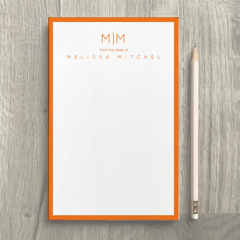 Clean Monogram Notepad