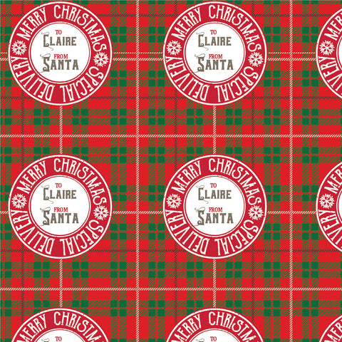 North Pole personalized gift wrap