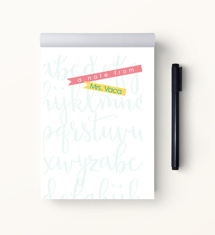 ABC Teacher Notepad