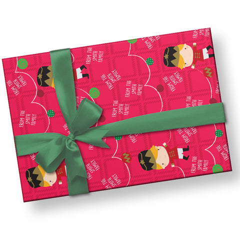 Personalized Christmas Nutcracker Gift Wrap