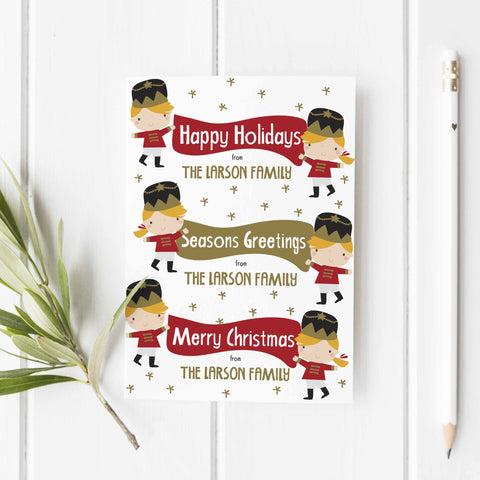 Nutcracker personalized holiday  greeting card