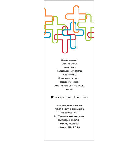 Overlapped Crosses  Bookmarks (Set of 25)