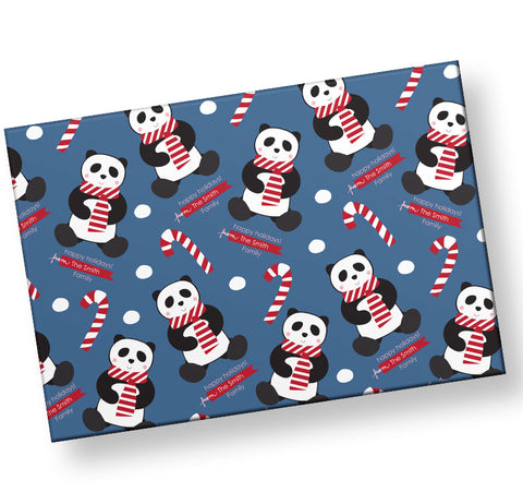 candy-cane-panda-personalized-wrapping-paper
