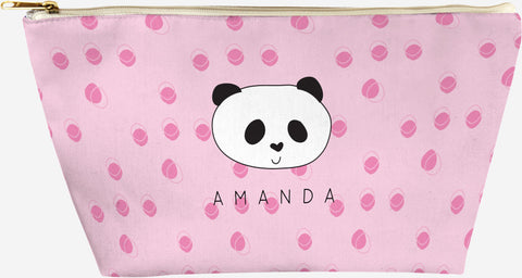 personalized panda pouch