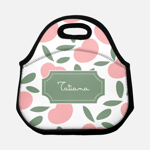 peaches lunch tote