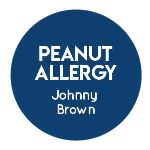 peanut allergy label
