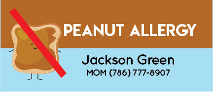 Peanut Allergy Name Tags