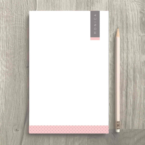 Pink Gray Notepad