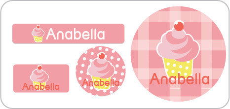 Pink Cupcake Everyday Labels