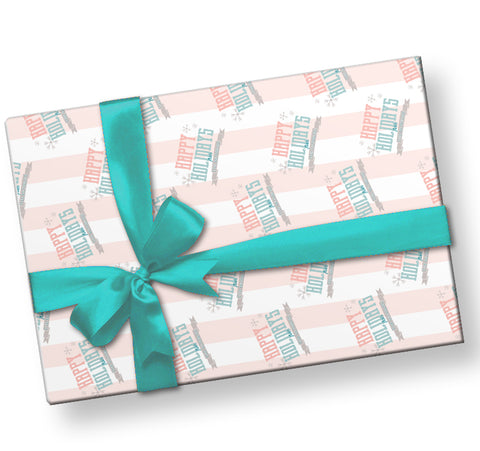 Personalized Winter Palette Wrapping Paper