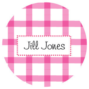 Pink Plaid Label