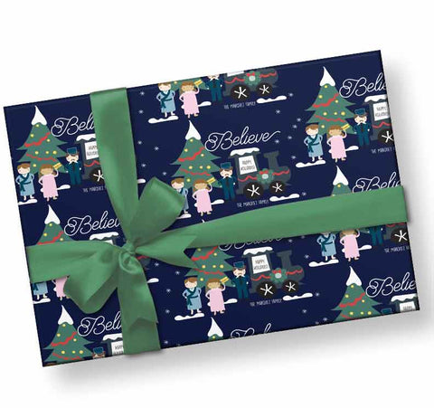 Personalized Polar Express Wrapping Paper