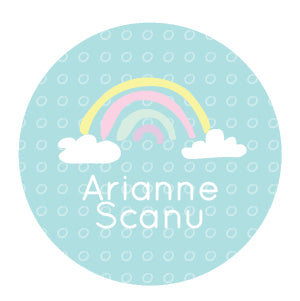 Rainbow personalized waterproof label