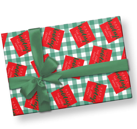 Red Tag Wrapping Paper
