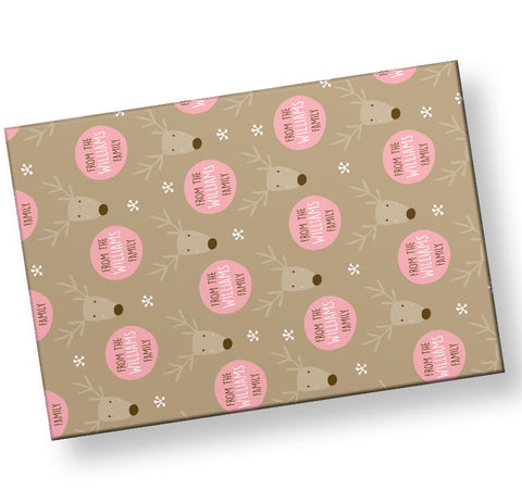 personalized-reindeer-wrapping-paper