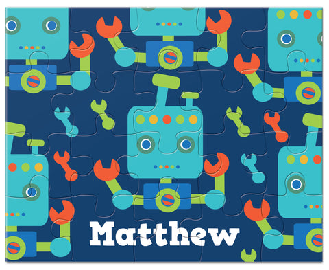 personalized robot puzzle for boys