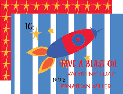 Rocket Valentine's Day Card (set of 10)