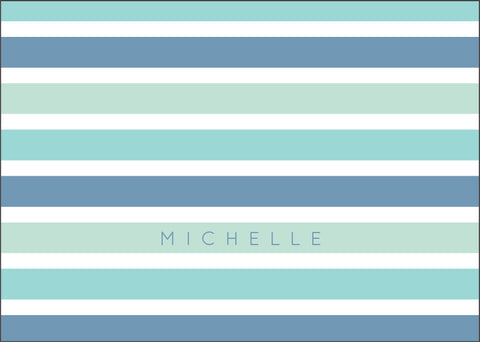 Sea Stripes Folded Card